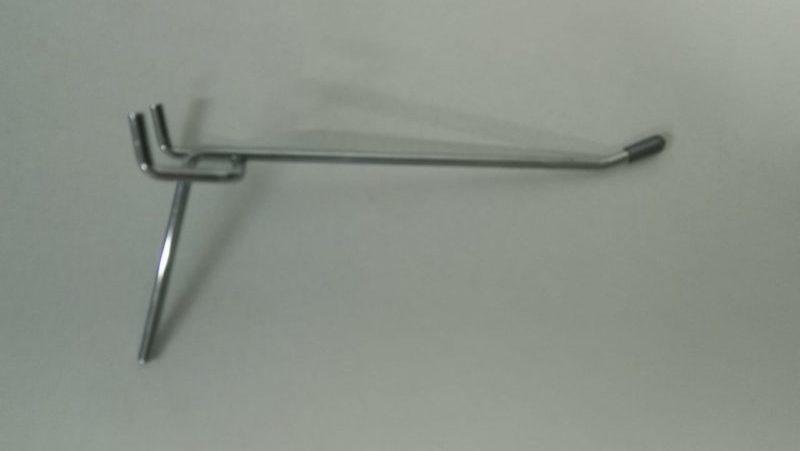 Крючок  хромированный одинарный для перфорации L-150 (ф4. ш.45)