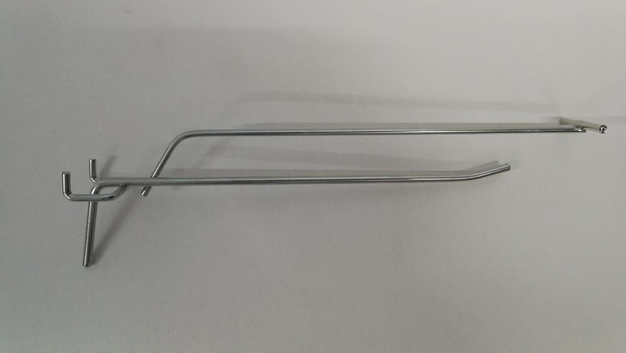 Крючок одинарный с ценникодержателем для перфорации L-200 (ф5/4 ш.45)