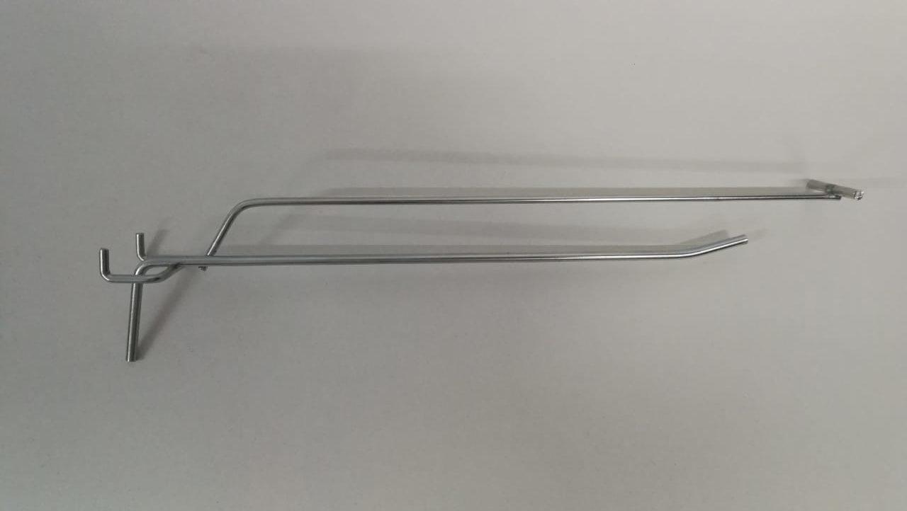 Крючок одинарный с ценникодержателем для перфорации L-250 (ф5/4 ш.45)