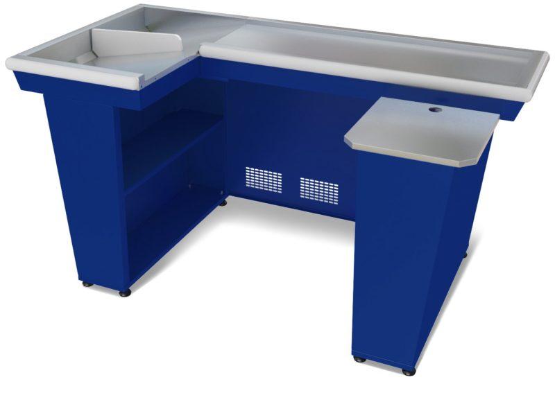 Кассовый бокс КБ-1,9-2Н двойной накопитель (синий)