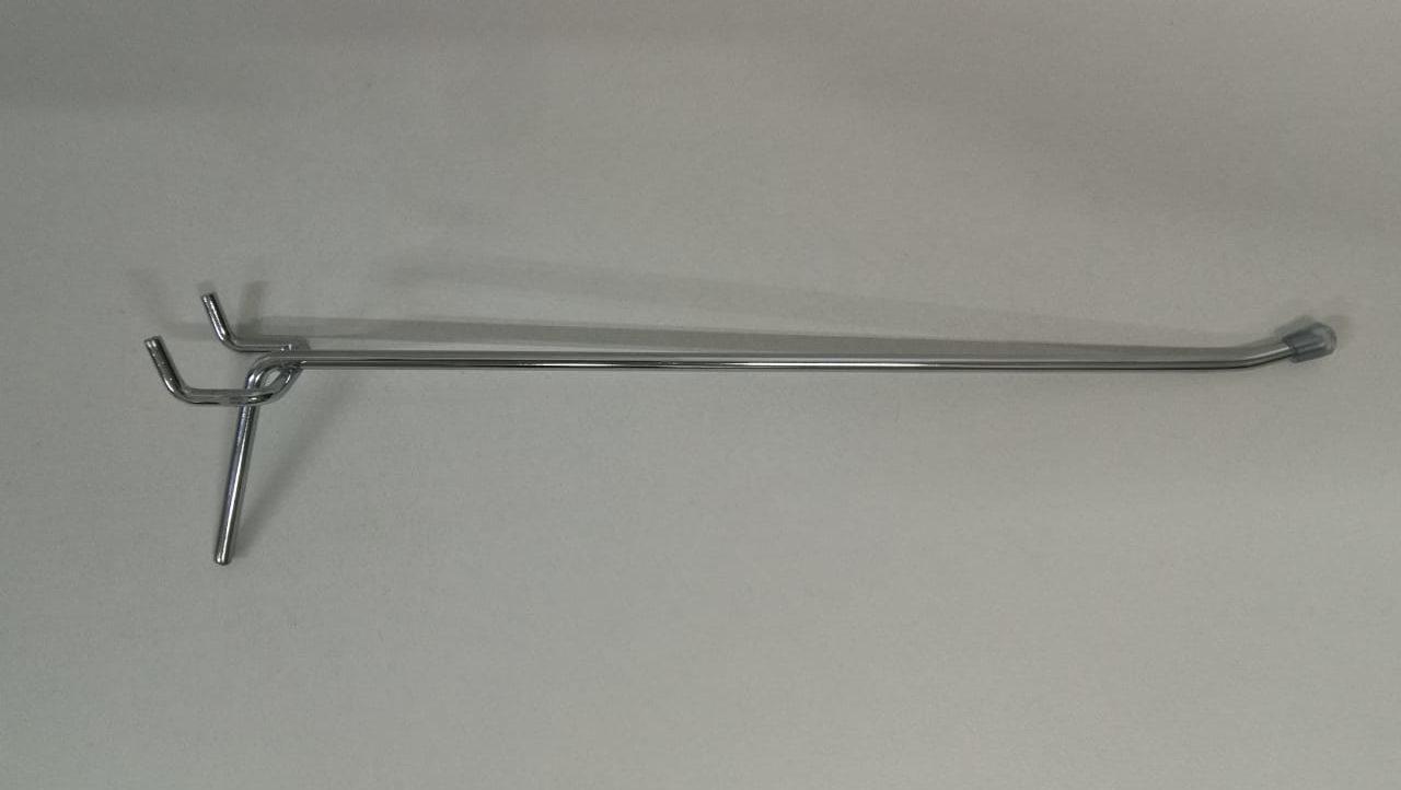Крючок  хромированный одинарный для перфорации L-250 (ф4. ш.45)