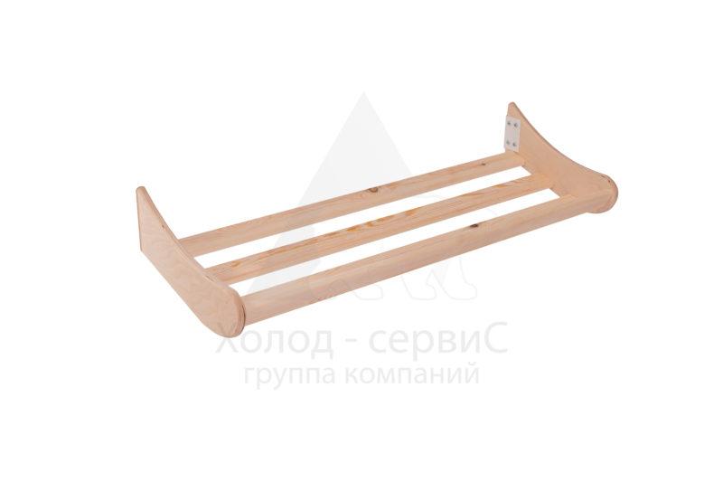 Полка наклонная хлебная малая с кронштейном